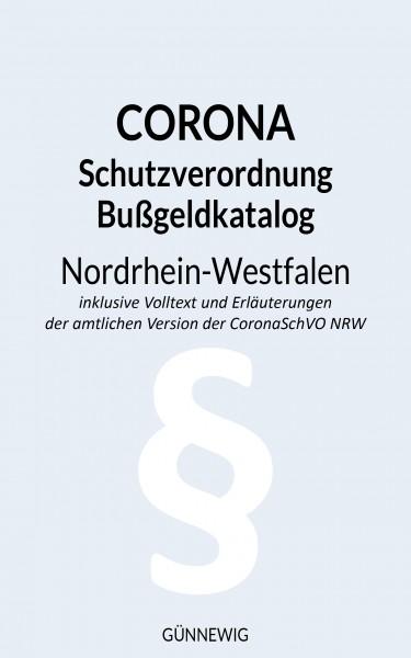 eBook (PDF) Corona - Schutzverordnung und Bußgeldkatalog NRW