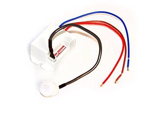 Bewegungsmelder Bewegungs-Melder Detektor IP20 für Glüh- und Halogenlampen