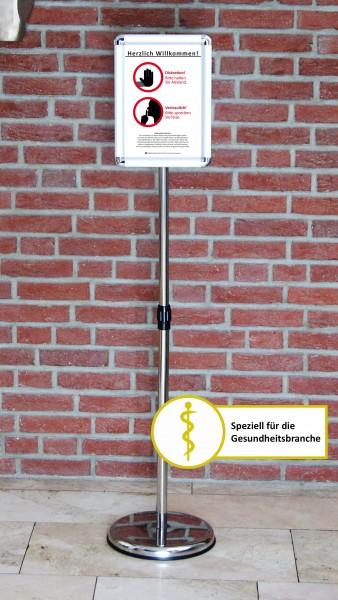 Fußboden-Aufsteller: Diskretion - Motiv 1 | Gesundheitsbranche
