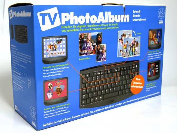 TV Fotoalbum + Bildbearbeitung - digitales Album für den Fernseher mit Tastatur