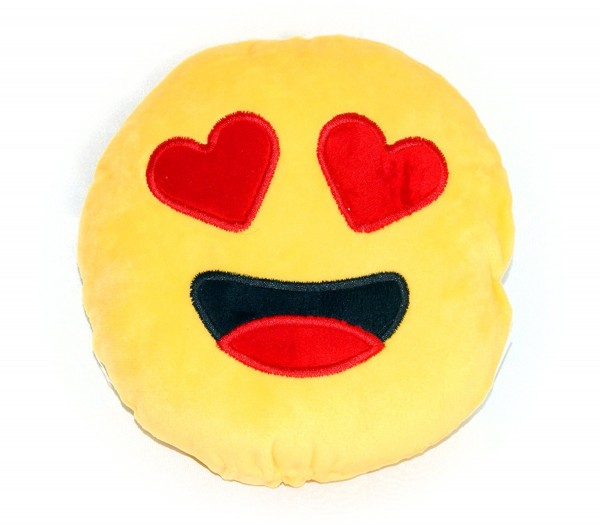 Deko-Emoticon-Plüschkissen Sofa-Plüsch-Kissen Motiv: Herzaugen