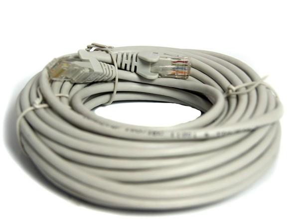 hochwertiges CAT 5 1000 FTP GRAU LAN-Netzwerkkabel Lankabel Netzwerk-Kabel 10m