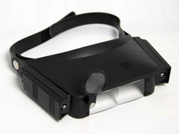 Stirn-Lupenleuchte Stirnlampe Lupenlampe Stirnleuchte, bis zu 4,8facher Vergr.