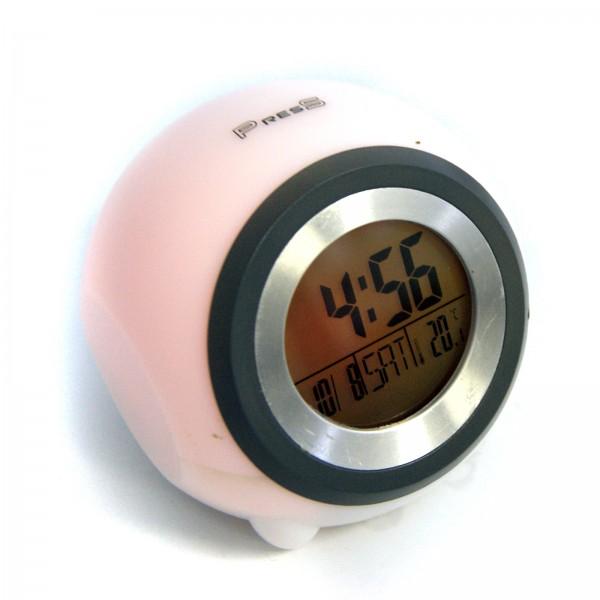 Lichtwecker WECKER-Uhr -wechselnden Farben - Effekte als Weck+Temperaturfunktion