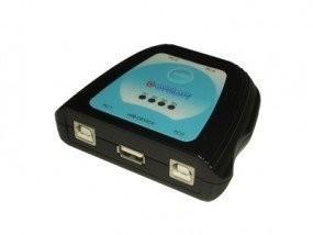 USB 2.0 4-Port-Auto-Switch Umschalter-Adapter-Box: 4 PC /Notebook an zB 1Drucker