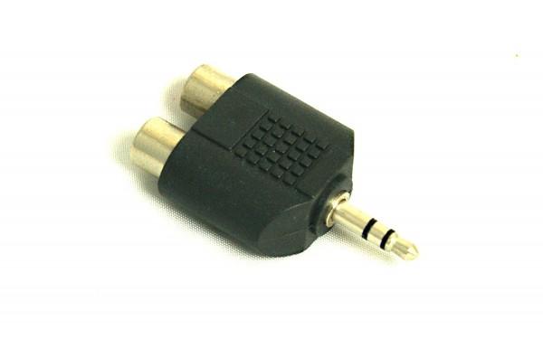 Audio-Adapter Audioadapter Adapterstecker 2x Cinch auf 1x 3,5mm Stereo-Klinke