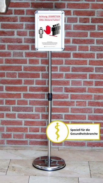 Fußboden-Aufsteller: Diskretion - Motiv 2 | Gesundheitsbranche