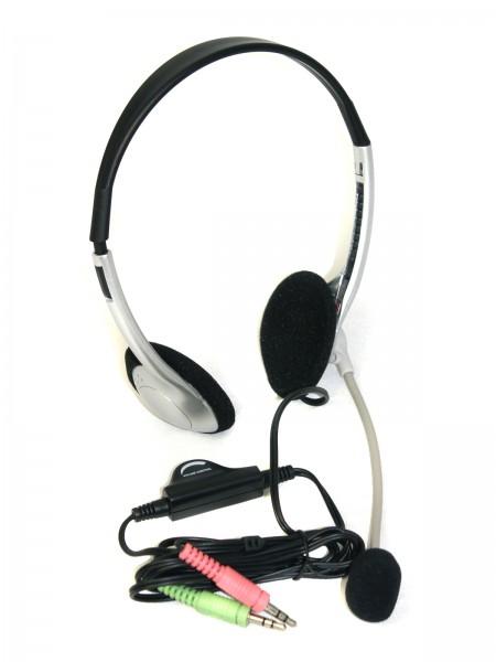 Stereo-Headset mit Mikrofon Mikro für Multimedia + Kommunikation+Telefon Headset